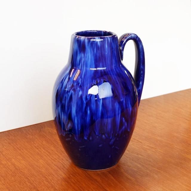 西ドイツのビンテージ花瓶 青