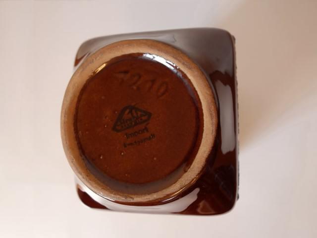 ヴィンテージ陶器花瓶 刻印