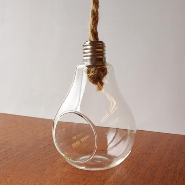 ビンテージのガラス製プラントホルダー