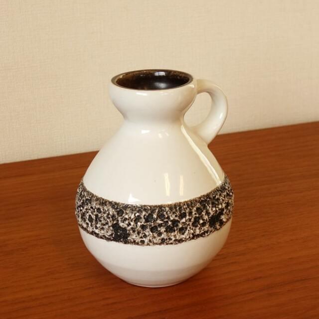 ドイツ製ビンテージ花瓶 白