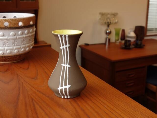 陶器フラワーベース ヴィンテージ雑貨