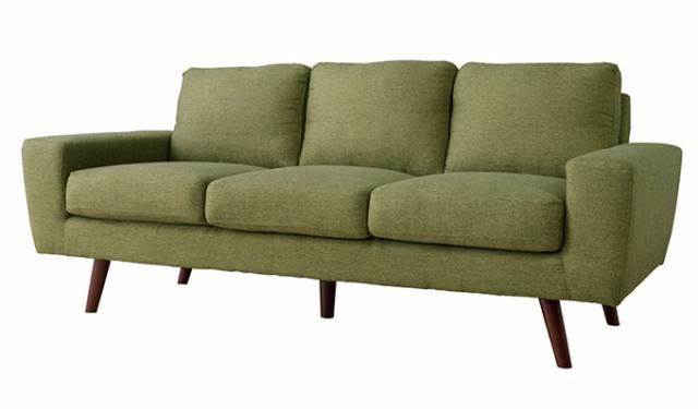 柔らかな風合いの3人掛けソファ