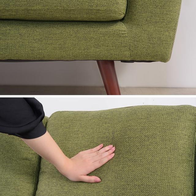 シンプルな3人掛けソファ 座面