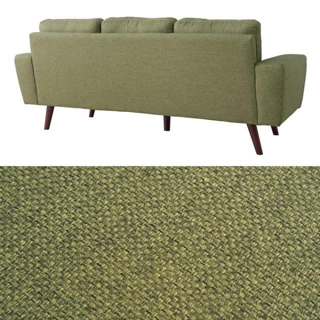 緑色のソファ ファブリック