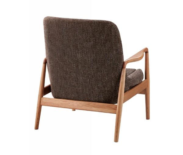 ハイバック木枠1人掛けソファ 後ろ側