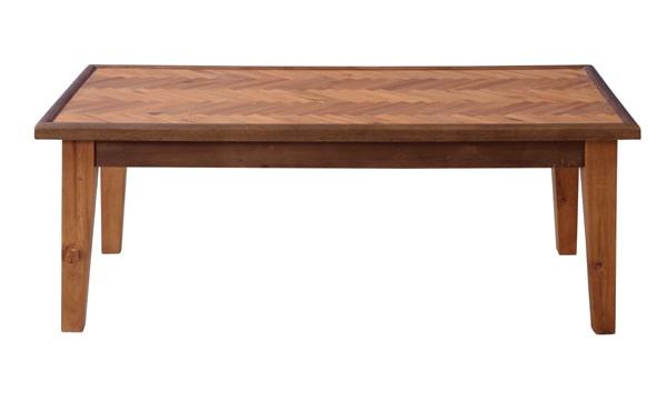 ヘリンボーンのコーヒーテーブル