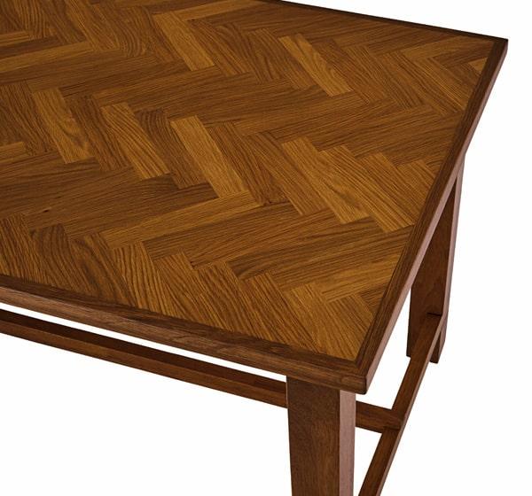 ヘリンボーン柄ダイニングセット テーブル天板