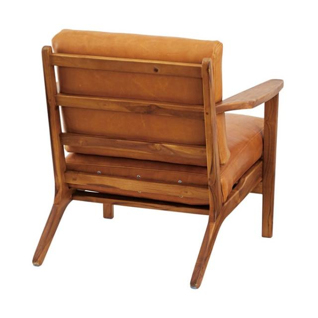 チーク木枠1人掛けソファ