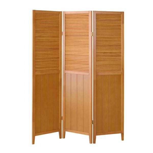 部屋の仕切り ナチュラル木製