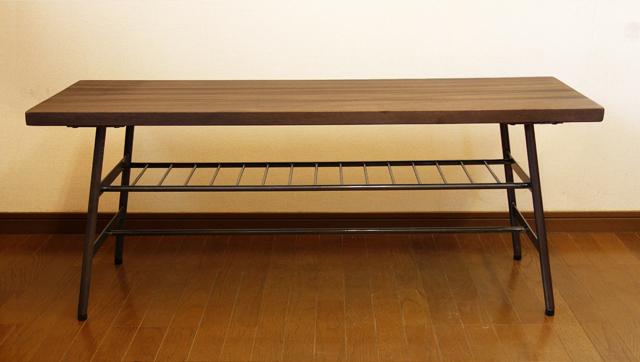 インダストリアルなベンチ 無垢材 鉄脚
