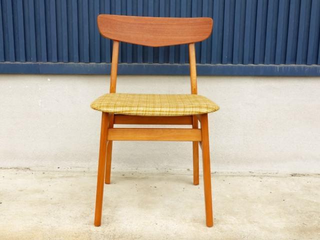 ヴィンテージ椅子 ベージュファブリック