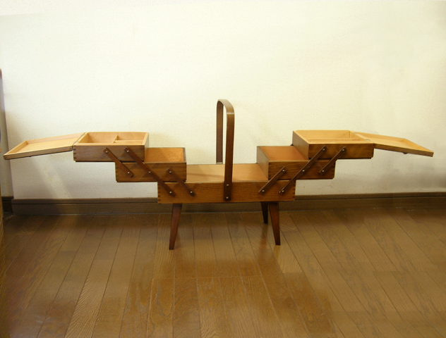 木製ソーイングボックス イギリス