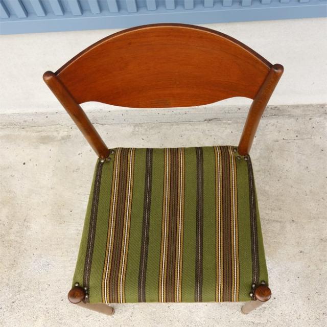 アンティーク椅子 座面しましま