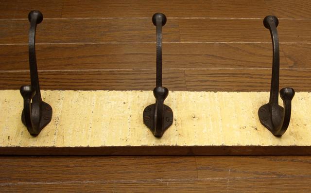 鉄製ウォールフック アンティーク 6連