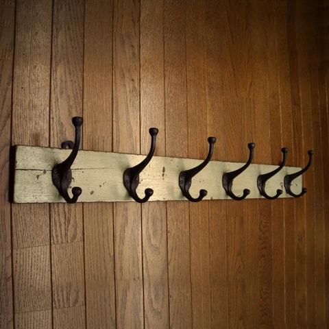 ビンテージ壁掛けフック インダストリアル家具