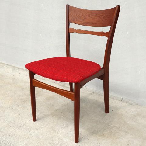 椅子 北欧ヴィンテージ 赤