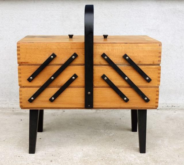 木製小物入れ ソーイングボックス