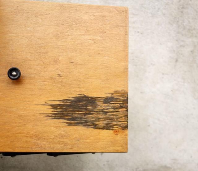 ビンテージ木製ソーイングボックス蓋