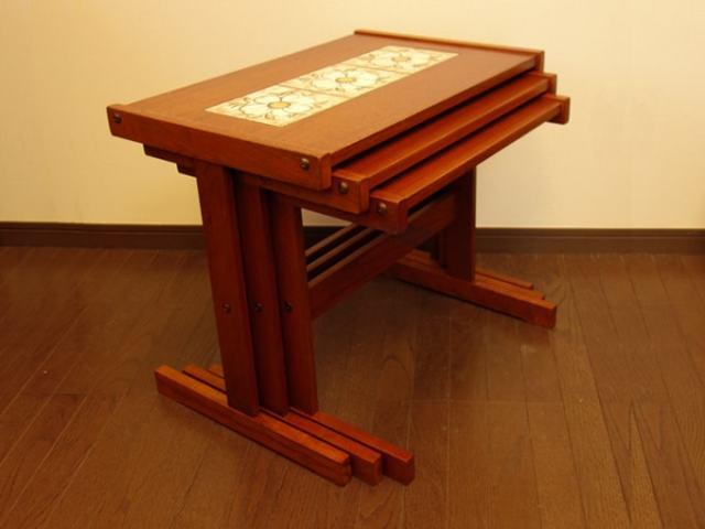 タイルトップ・ネストテーブル 北欧家具