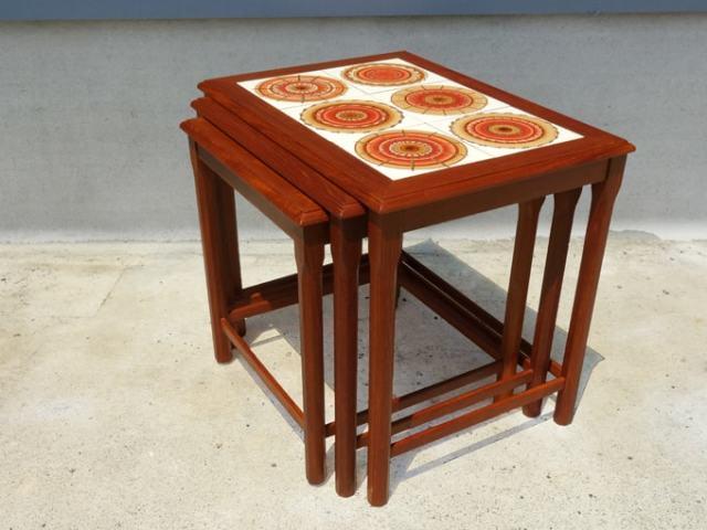 タイルトップテーブル 北欧ビンテージ家具