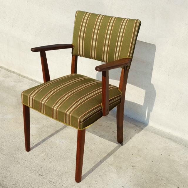 ヴィンテージ椅子 ストライプ
