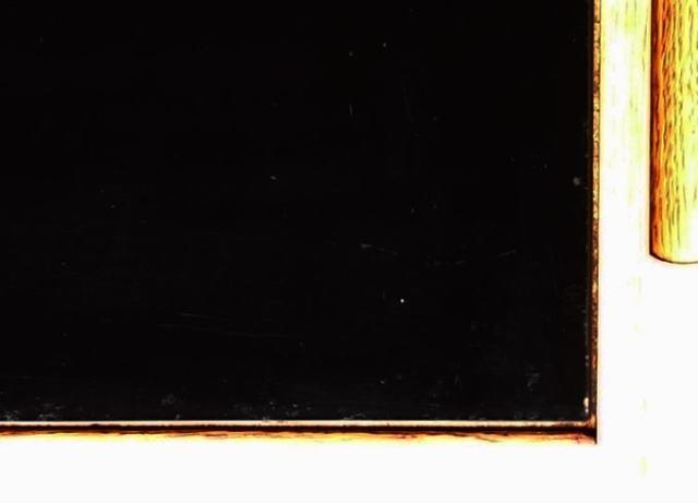 ナイトテーブル 黒ガラス天板