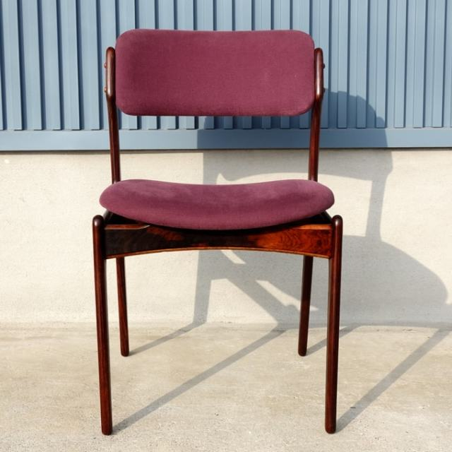 ヴィンテージ・ローズウッド椅子 紫