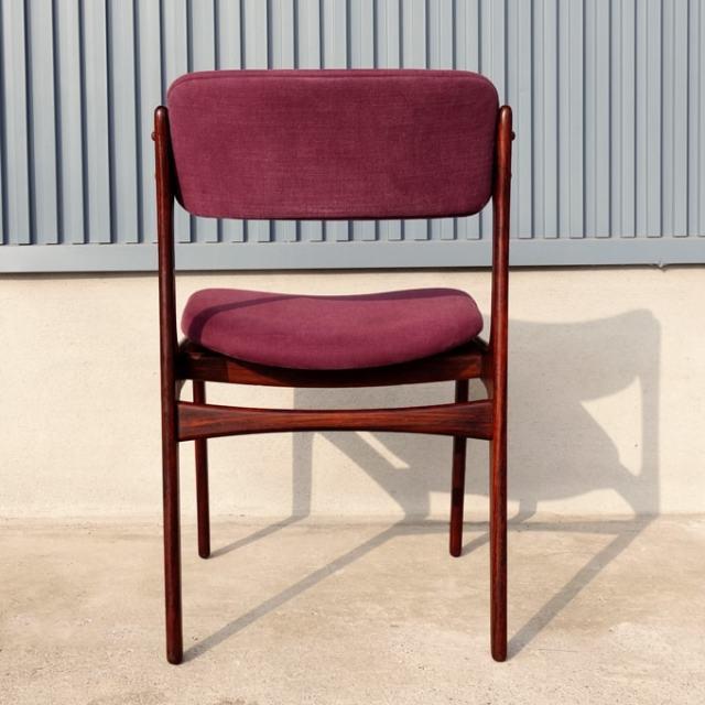 ヴィンテージ紫ファブリック椅子 後ろ側