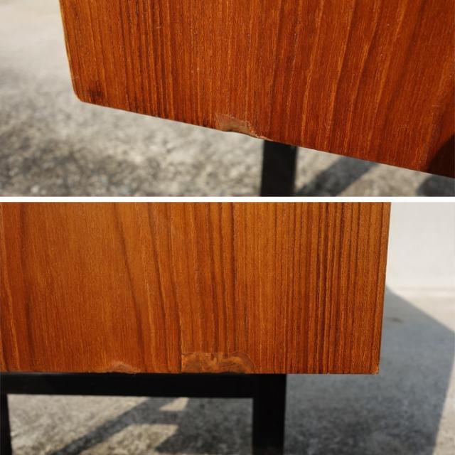 ヴィンテージ木製サイドボード 側面下端