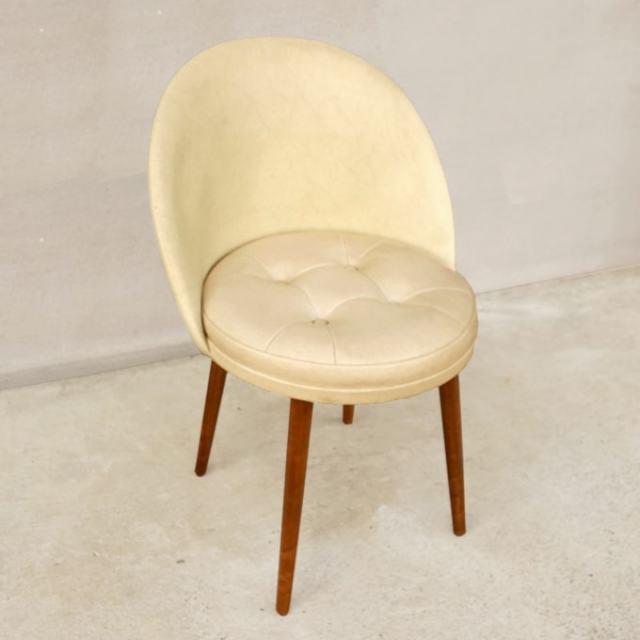 北欧ヴィンテージ椅子 アイボリー