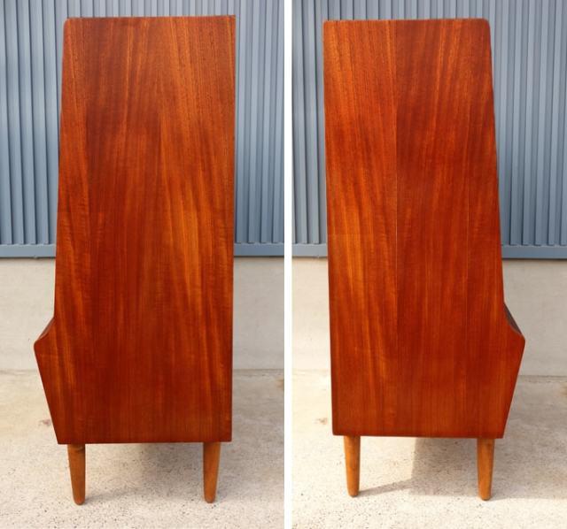 北欧ビンテーージ木製チェスト 側面