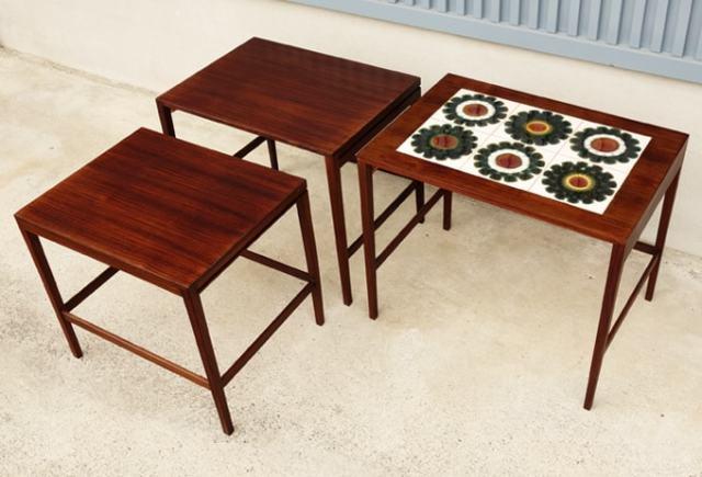 北欧ヴィンテージ テーブル3つセット