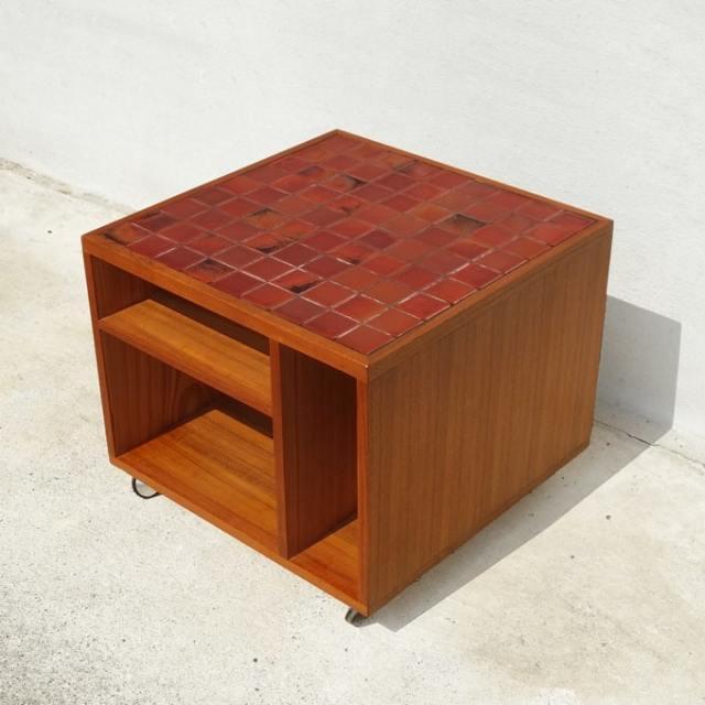 ビンテージ ボックステーブル タイルトップ