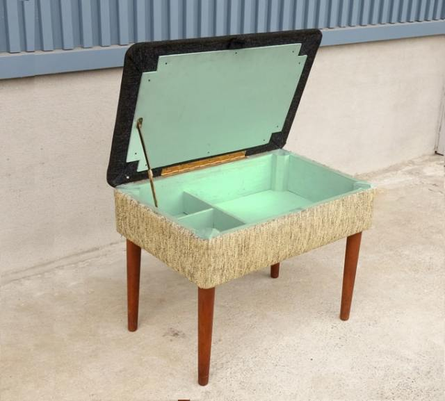 北欧ヴィンテージ椅子 かわいいBOXスツール