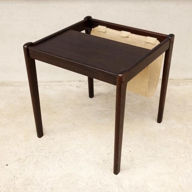 木製ミニテーブル ダークブラウン