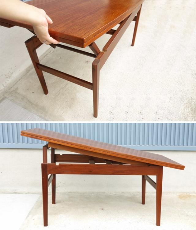 ヴィテージ コーヒーテーブル 高さ変更可