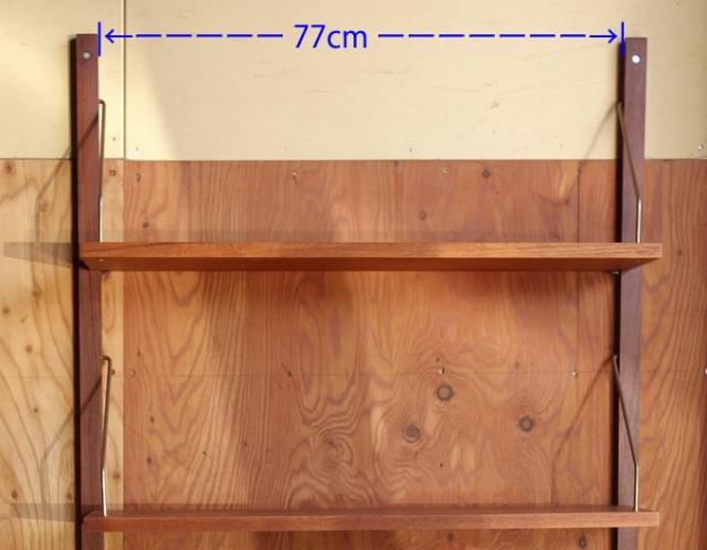 棚の支柱は77cm開けて設置