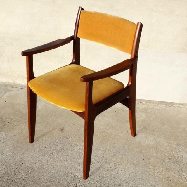 北欧ビンテージ椅子 マスタードイエロー