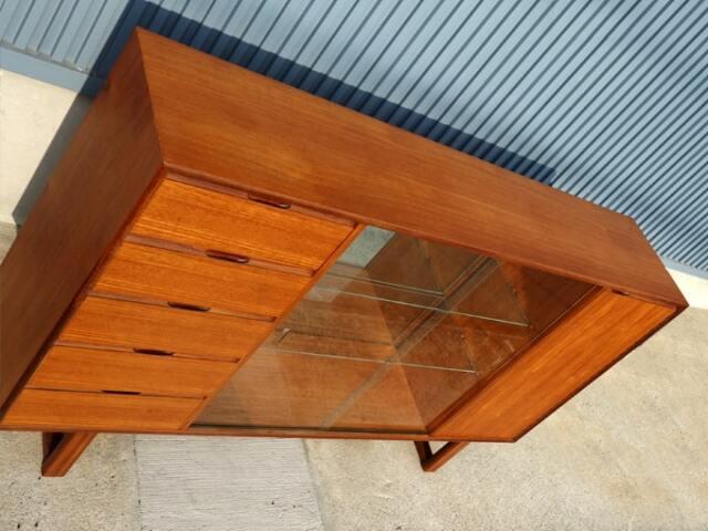 ヴィンテージ ガラス戸棚