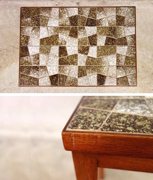 北欧ヴィンテージのタイルテーブル