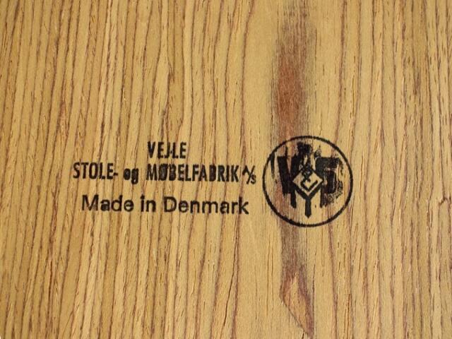 Vejle Stole og Mobelfabrik刻印