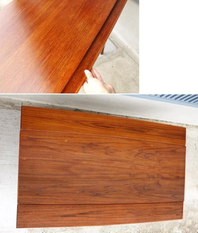 テーブルの両サイドを拡げて天板を大きくできます