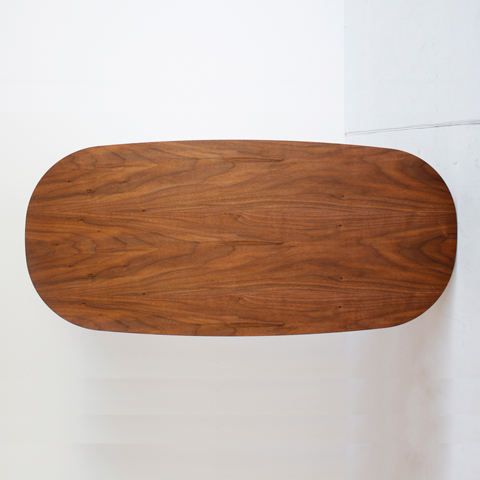 ウォルナット天然木ローテーブル