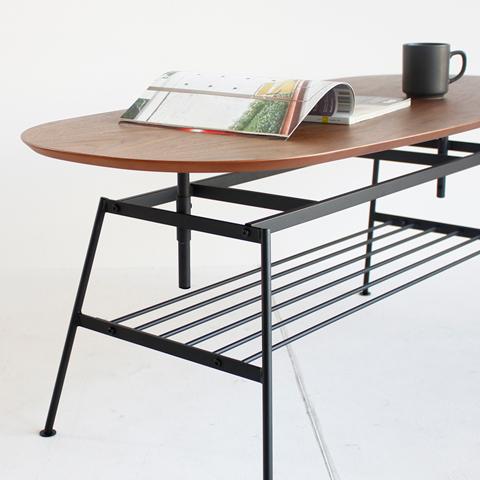 鉄脚ローテーブル
