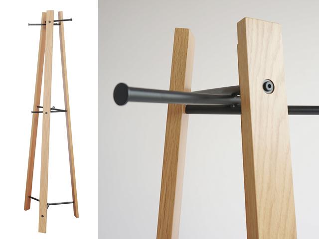 木製コートスタンド ナチュラル