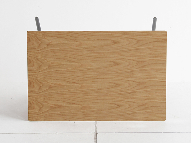 木製ダイニングテーブル ナチュラル 黒鉄脚