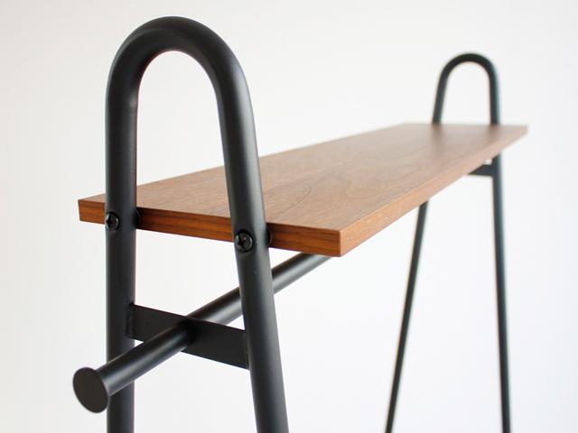 ハンガーラック天然木棚板