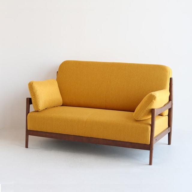 木枠2人掛けソファ ファブリック張り