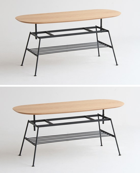 鉄脚テーブル 高さ変更できる
