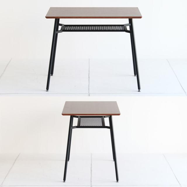 ウォルナットと鉄脚のダイニングテーブル